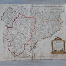 Arte: MAPA ORIGINAL SIGLO XVIII ESTADOS CORONA ARAGON REINO NAVARRA PRINCIPADO CATALUÑA VAUGONDY. Lote 237869155