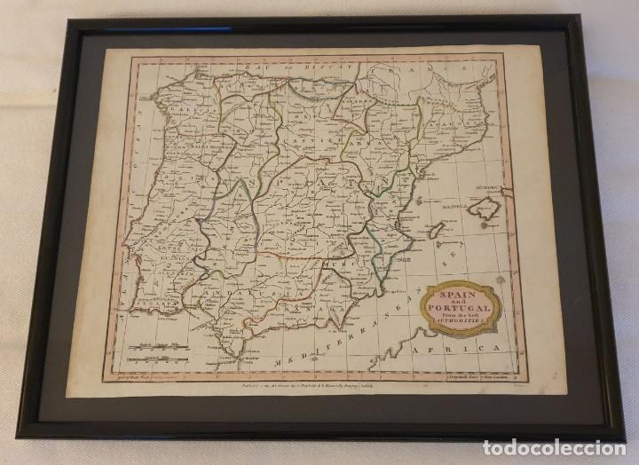 "1807 - SPAIN AND PORTUGAL - J. BARLOW - ""THE BEST AUTHORITIES"", LONDON (Arte - Cartografía Antigua (hasta S. XIX))"
