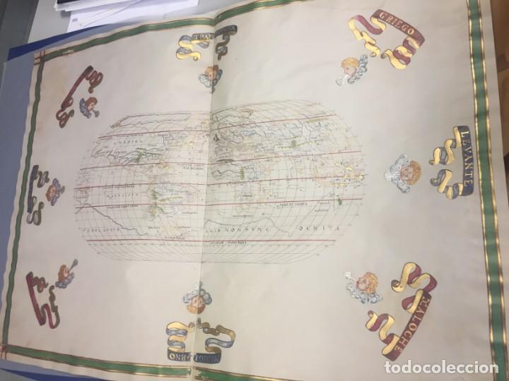Arte: Mapamundi siglo XVI, en pergamino y dorado, facsímil - Foto 4 - 240259450