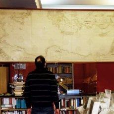 Arte: 1880/1940/1956 MEDITERRÁNEO ORIENTAL GRAN CARTA NÁUTICA DE 2,60 METROS CON VARILLAS DE EXPOSICIÓN. Lote 240615800