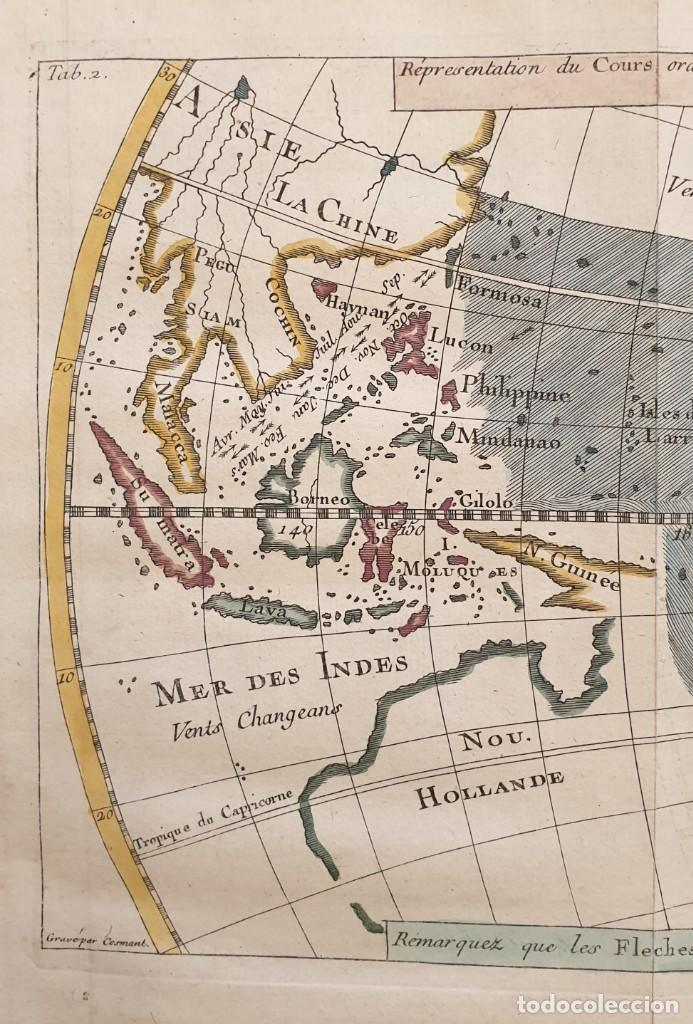 Arte: 1760 - Mapa original Pacífico, Australia, California, Filipinas, China... A.F.Prevost/N.Bellin - Foto 2 - 240791225