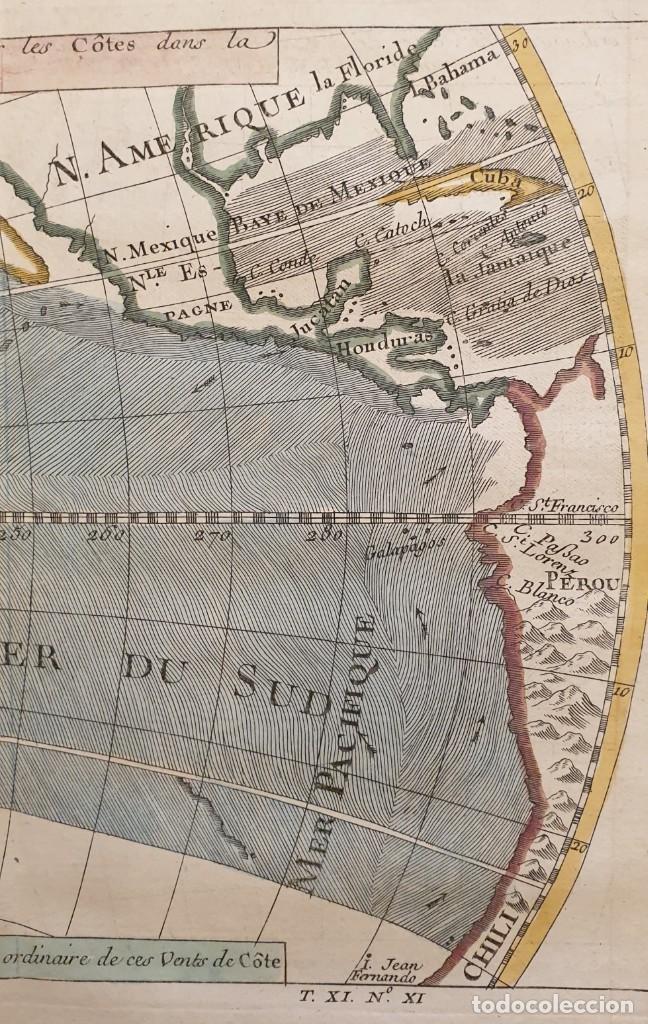 Arte: 1760 - Mapa original Pacífico, Australia, California, Filipinas, China... A.F.Prevost/N.Bellin - Foto 3 - 240791225
