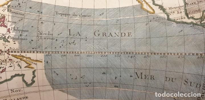 Arte: 1760 - Mapa original Pacífico, Australia, California, Filipinas, China... A.F.Prevost/N.Bellin - Foto 4 - 240791225