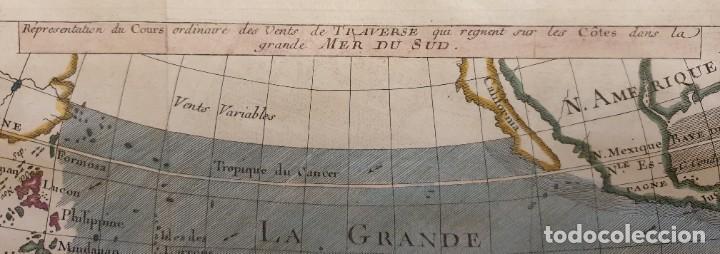Arte: 1760 - Mapa original Pacífico, Australia, California, Filipinas, China... A.F.Prevost/N.Bellin - Foto 5 - 240791225