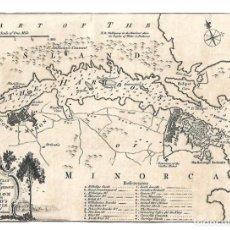 Arte: MAPA DE MAHÓN Y EL PUERTO, MENORCA, DEL SIGLO XVIII. Lote 262182815