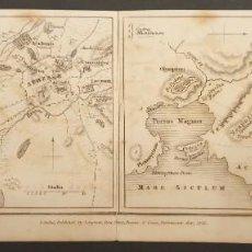 Arte: 1826 - MAPAS ATENAS Y SIRACUSA - CHOROGRAPHIA ATHENIENSIS/SYRACUSANA. LONGMAN, LONDRES.. Lote 241689210