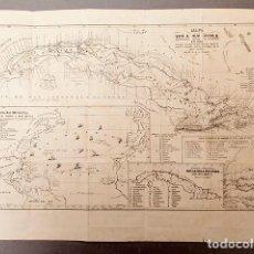 Arte: MAPA DE LA ISLA DE CUBA - 1853 - POR D.G.J. DE ARBOLEYA - MUY RARO. Lote 293569963