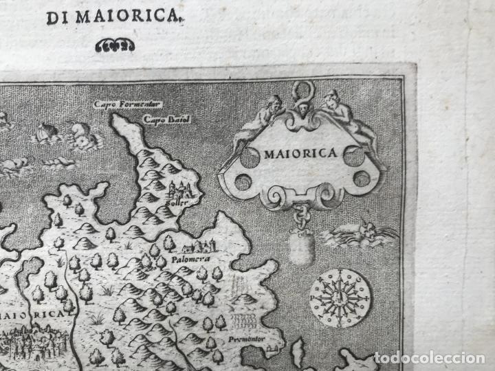 Arte: Mapa de la isla de Mallorca (Baleares, España), 1590. Tommaso Porcacchi - Foto 8 - 242062360