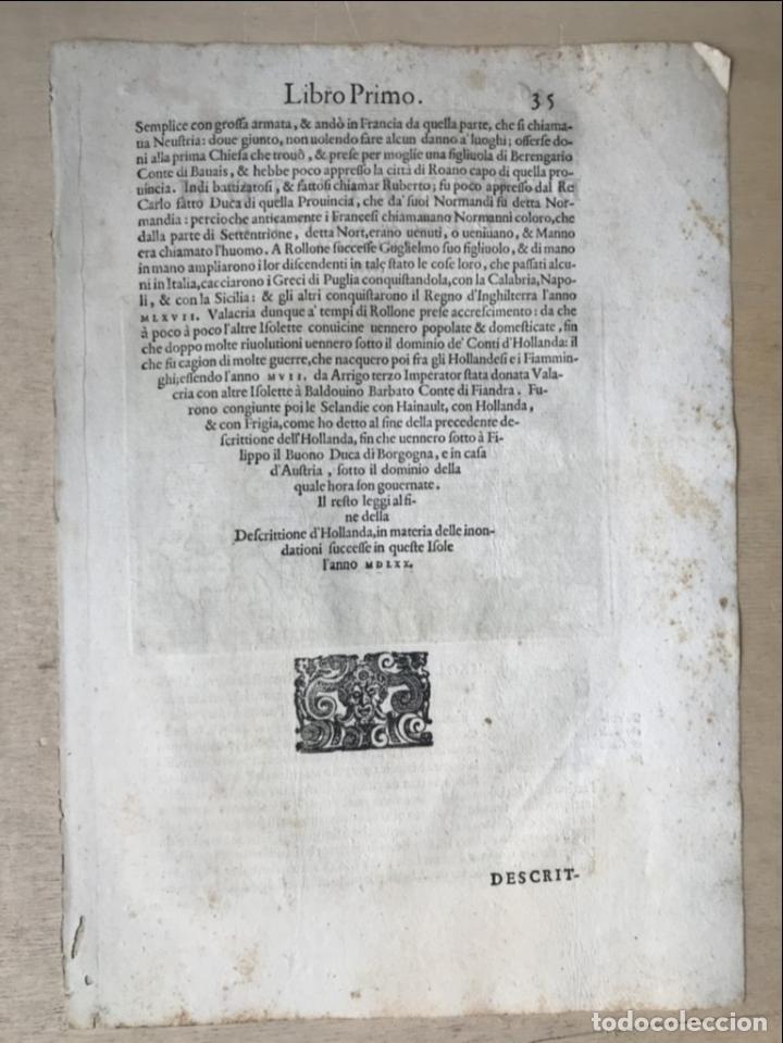 Arte: Mapa de la isla de Mallorca (Baleares, España), 1590. Tommaso Porcacchi - Foto 11 - 242062360