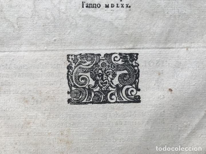 Arte: Mapa de la isla de Mallorca (Baleares, España), 1590. Tommaso Porcacchi - Foto 14 - 242062360