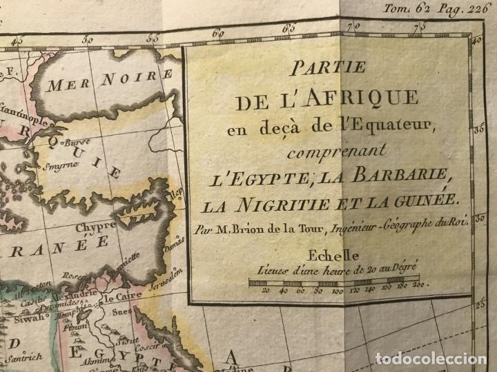 Arte: Mapa a color del norte y centro de África, hacia 1788. Luis Brion de la Tour - Foto 4 - 242191755
