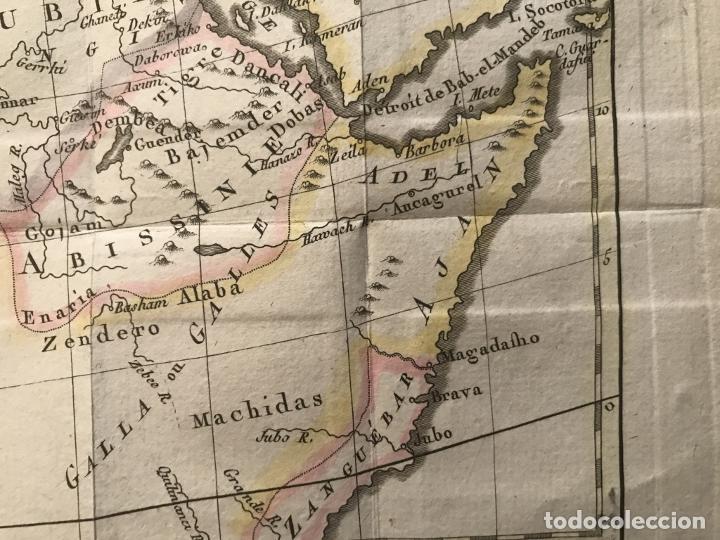 Arte: Mapa a color del norte y centro de África, hacia 1788. Luis Brion de la Tour - Foto 6 - 242191755