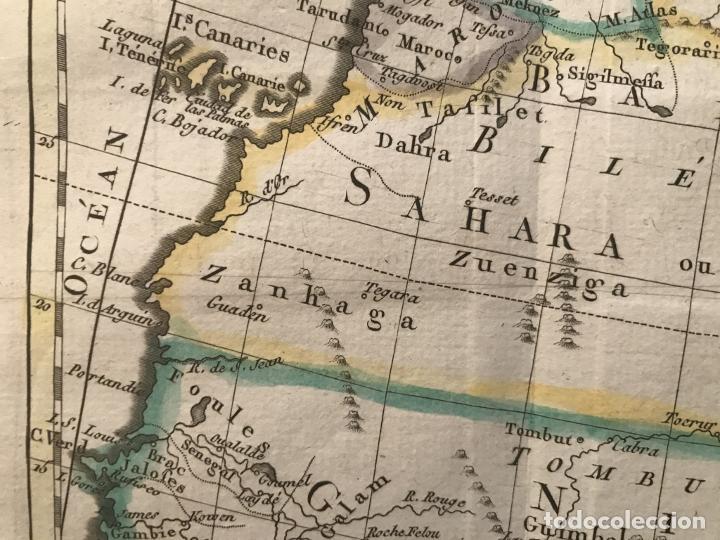 Arte: Mapa a color del norte y centro de África, hacia 1788. Luis Brion de la Tour - Foto 9 - 242191755