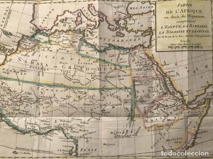 Arte: Mapa a color del norte y centro de África, hacia 1788. Luis Brion de la Tour - Foto 11 - 242191755