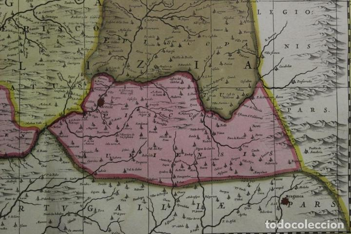 Arte: Gran mapa a color del antiguo reino de Galicia (España), 1690. F. Ojea/Valk y Schenk - Foto 4 - 242866350