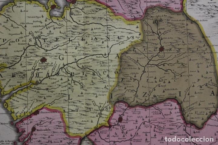 Arte: Gran mapa a color del antiguo reino de Galicia (España), 1690. F. Ojea/Valk y Schenk - Foto 6 - 242866350