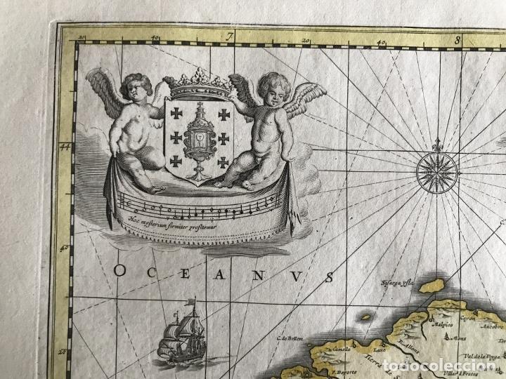 Arte: Gran mapa a color del antiguo reino de Galicia (España), 1690. F. Ojea/Valk y Schenk - Foto 13 - 242866350