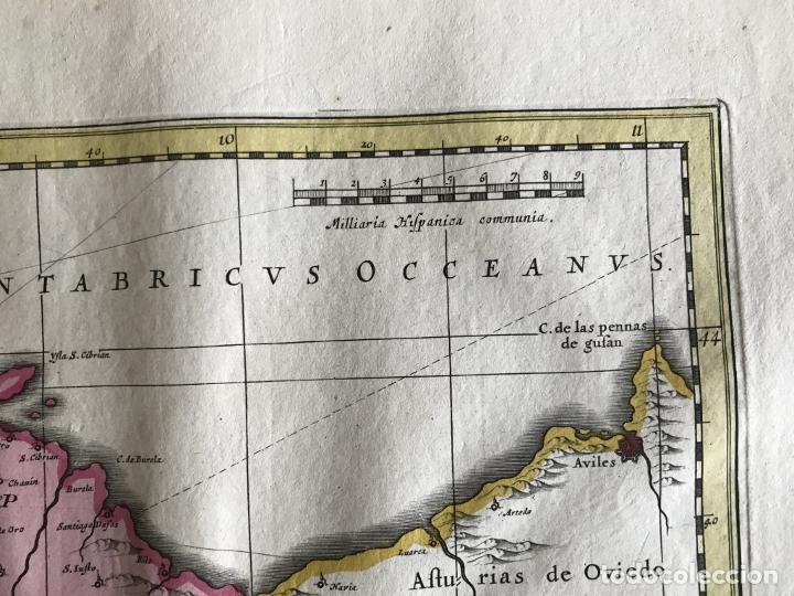 Arte: Gran mapa a color del antiguo reino de Galicia (España), 1690. F. Ojea/Valk y Schenk - Foto 16 - 242866350