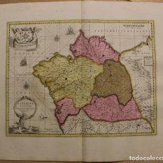 Arte: GRAN MAPA A COLOR DEL ANTIGUO REINO DE GALICIA (ESPAÑA), 1690. F. OJEA/VALK Y SCHENK. Lote 242866350