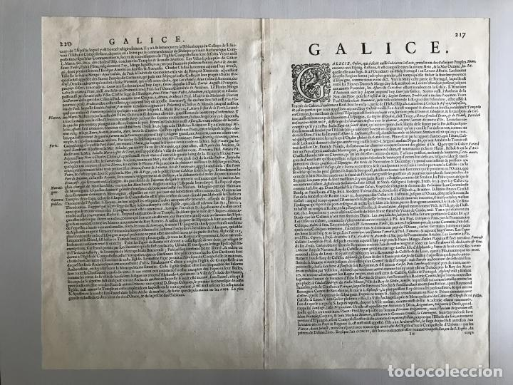 Arte: Gran mapa a color del antiguo reino de Galicia (España), hacia 1630. Mercator/Hondius - Foto 18 - 242871565