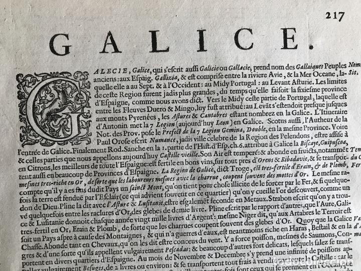 Arte: Gran mapa a color del antiguo reino de Galicia (España), hacia 1630. Mercator/Hondius - Foto 19 - 242871565