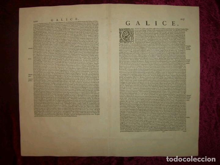 Arte: Gran mapa a color del antiguo reino de Galicia (España), hacia 1630. Mercator/Hondius - Foto 28 - 242871565