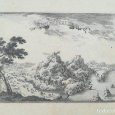 Art: GRABADO TORROELLA DE MONTGRI - LES MEDES - GIRONA - BEAULIEU - AÑO 1707. Lote 243191520