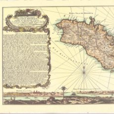 Arte: MAPA DE MENORCA REPRODUCCIÓN HOMANN - AÑO 1757. Lote 243272930