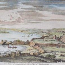 Arte: ANDALUCÍA, ALGECIRAS, VISTA POR JOHN BEVAL, 1730, THE RUINS OF ALGEZIRA IN THE BAY OF GIBRALTAR. Lote 244392775