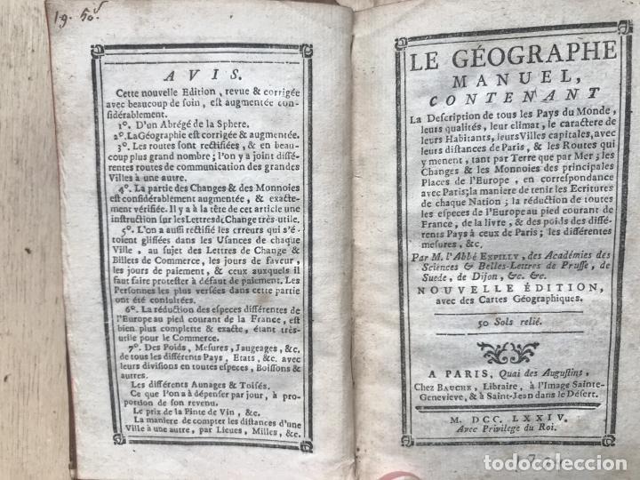 Arte: Le géographe manuel..., 1774. Expilly/Bauche. Mapas desplegables - Foto 6 - 245286520