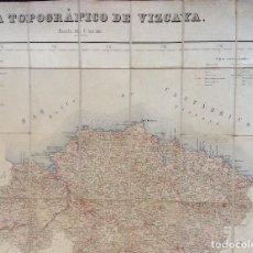 Arte: ANTIGUO MAPA CARTOGRÁFICO DE VIZCAYA, ENTELADO ,. Lote 246501435