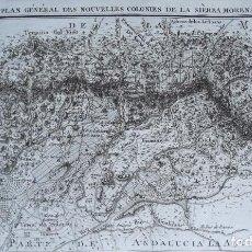 Arte: ANDALUCÍA, SIERRA MORENA, DESPEÑAPERROS, BAILÉN, LA CAROLINA… MAPA MUY RARO POR MENTELLE, 1784. Lote 246908845