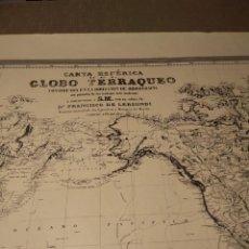 Arte: ANTIGUA CARTOGRAFIA DE 1857 DEL GLOBO TERRAQUEO. Lote 267565439