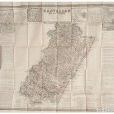 Arte: MAPA ANTIGUO CASTELLÓN COELLO AÑO 1832 CON CERTIF. AUTENT. MAPAS ANTIGUOS CASTELLÓN LEVANTE. Lote 128085127