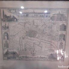 Arte: MAPA CARTOGRAFICO CARTA HISTORICA DE VISSCHER ROMANO HACIA 1950. Lote 248502940