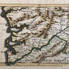 Arte: MAPA A COLOR DEL SUR DE PONTEVEDRA, BATALLA DE RANDE -VIGO (GALICIA, ESPAÑA), 1715. BODENEHR. Lote 248693820