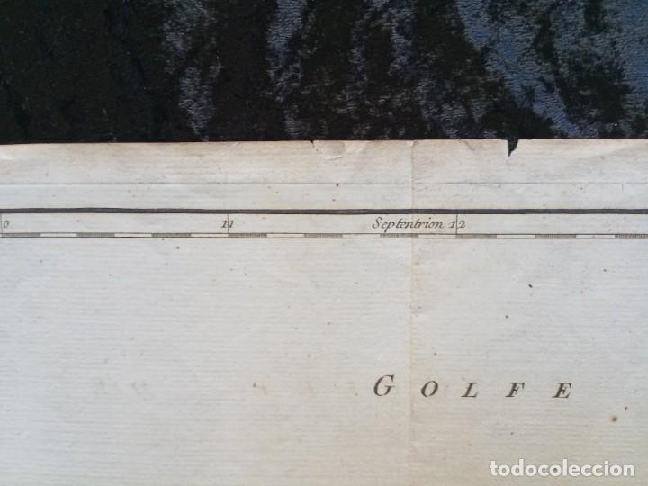 Arte: 1752 - MAPA CASTILLA - LEON - GALICIA - ASTURIAS - VIZCAYA - NAVARRA 67x51,5cm VAUGONDY - Foto 4 - 249266060