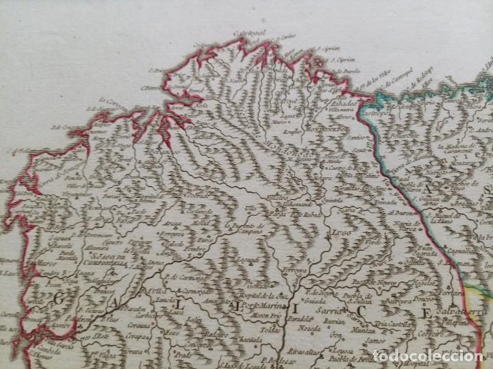 Arte: 1752 - MAPA CASTILLA - LEON - GALICIA - ASTURIAS - VIZCAYA - NAVARRA 67x51,5cm VAUGONDY - Foto 7 - 249266060