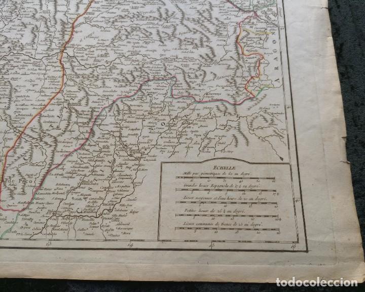 Arte: 1752 - MAPA CASTILLA - LEON - GALICIA - ASTURIAS - VIZCAYA - NAVARRA 67x51,5cm VAUGONDY - Foto 10 - 249266060