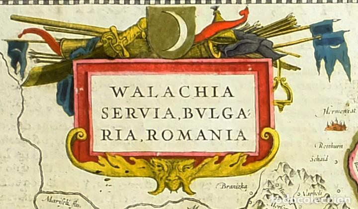 1641 - MAPA ORIGINAL DE JANSSONIUS/MERCATOR - RUMANIA BULGARIA - COLOREADO A MANO - MUY DECORATIVO (Arte - Cartografía Antigua (hasta S. XIX))