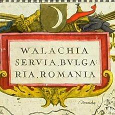 Arte: 1641 - MAPA ORIGINAL DE JANSSONIUS/MERCATOR - RUMANIA BULGARIA - COLOREADO A MANO - MUY DECORATIVO. Lote 251342255