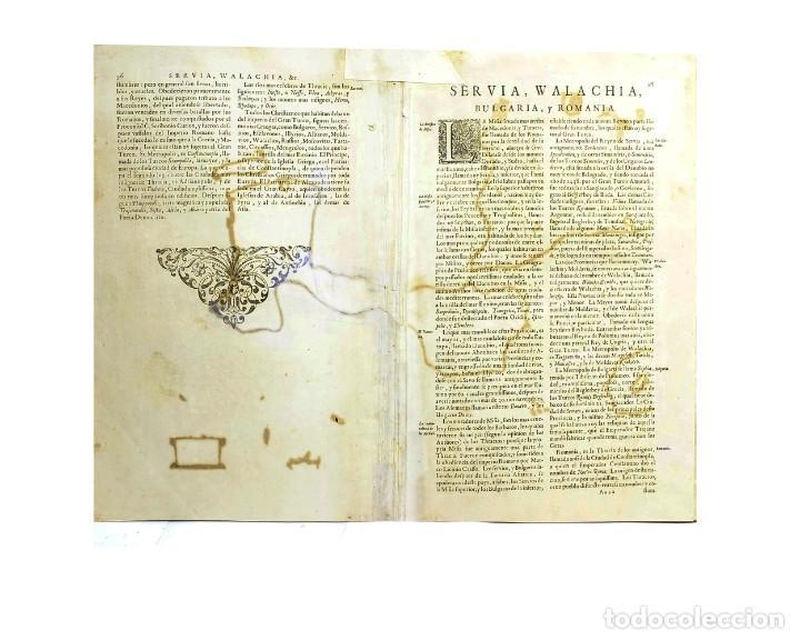 Arte: 1641 - Mapa Original de Janssonius/Mercator - Rumania Bulgaria - Coloreado a mano - Muy decorativo - Foto 3 - 251342255