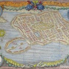 Arte: TUNESIA, CARTAGO – RARO EJEMPLO DE CARTOGRAFÍA ESPAÑOLA, DIEGO DE VILLANUEVA Y MUÑOZ, 1754. Lote 252009495