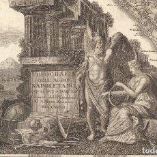 Arte: 1793 - PLANO DE NÁPOLES, EL VESUBIO Y SUS ALREDEDORES POR ANTONIO RIZZI ZANNONI - MUSEUM QUALITY. Lote 130197371