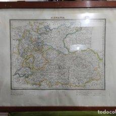 Arte: MAPA DE ALEMANIA Y AUSTRIA S. XIX. Lote 252307285