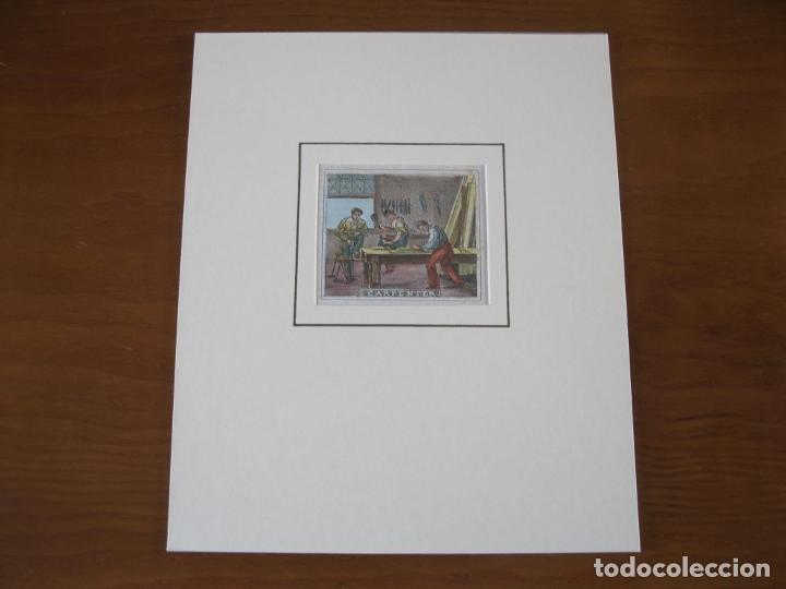 Arte: Los carpinteros, 1830. Anónimo - Foto 2 - 252771725