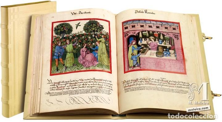 TACUINUM SANITATIS FACSIMIL EDITORIAL MOLEIRO - NUEVO A ESTRENAR EN CAJA - INCLUYE LIBRO ESTUDIOS (Arte - Cartografía Antigua (hasta S. XIX))