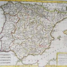 Art: ESPAÑA – RARO! OBRAS GRANDES CANALES, CASTILLA, ARAGÓN, MANZANARES, MURCIA, MENTELLE, 1784, ESPAGNE. Lote 253451775