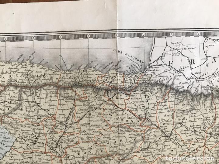 Arte: Gran mapa de España y Portugal, 1874. A.Brué/Levasseur - Foto 4 - 253539520