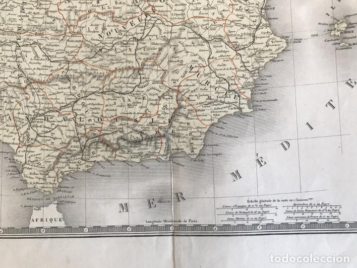 Arte: Gran mapa de España y Portugal, 1874. A.Brué/Levasseur - Foto 8 - 253539520